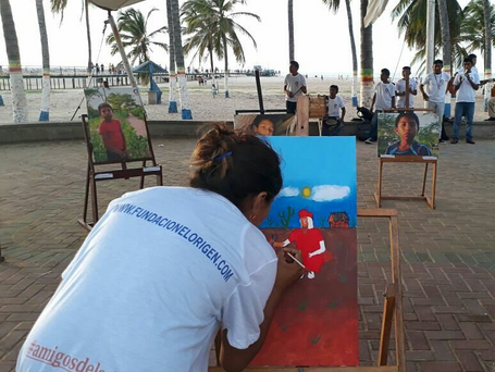 Exhibición itinerante Poromana se presenta en Riohacha con la participación de los estudiantes