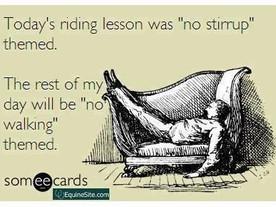 So I rode without stirrups...