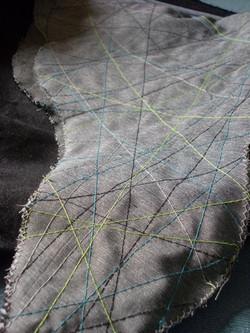 sewing - bag, stitch detail