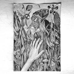 sketch by color pencil, 50x70cm