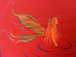 fluo Acrylics on Fabric