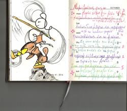 sketch by color pen, weekly beings