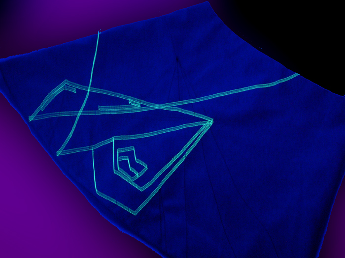 sewing - bag with fluo details