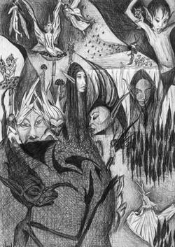 sketch by pen