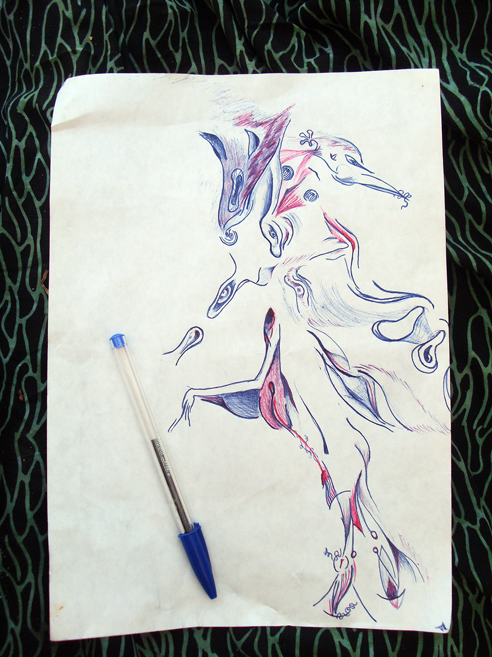 sketch by color pen