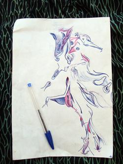 sketch by color pen