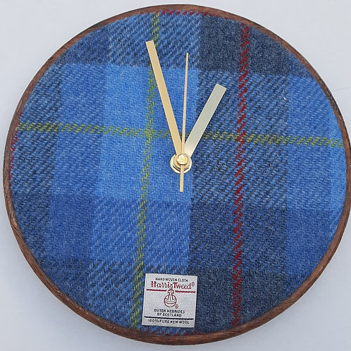 Light Blue Tartan effect Harris Tweed