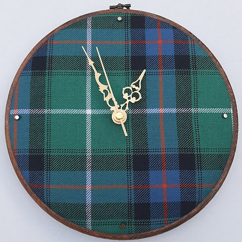 MacDonald of the Isles Tartan Clock