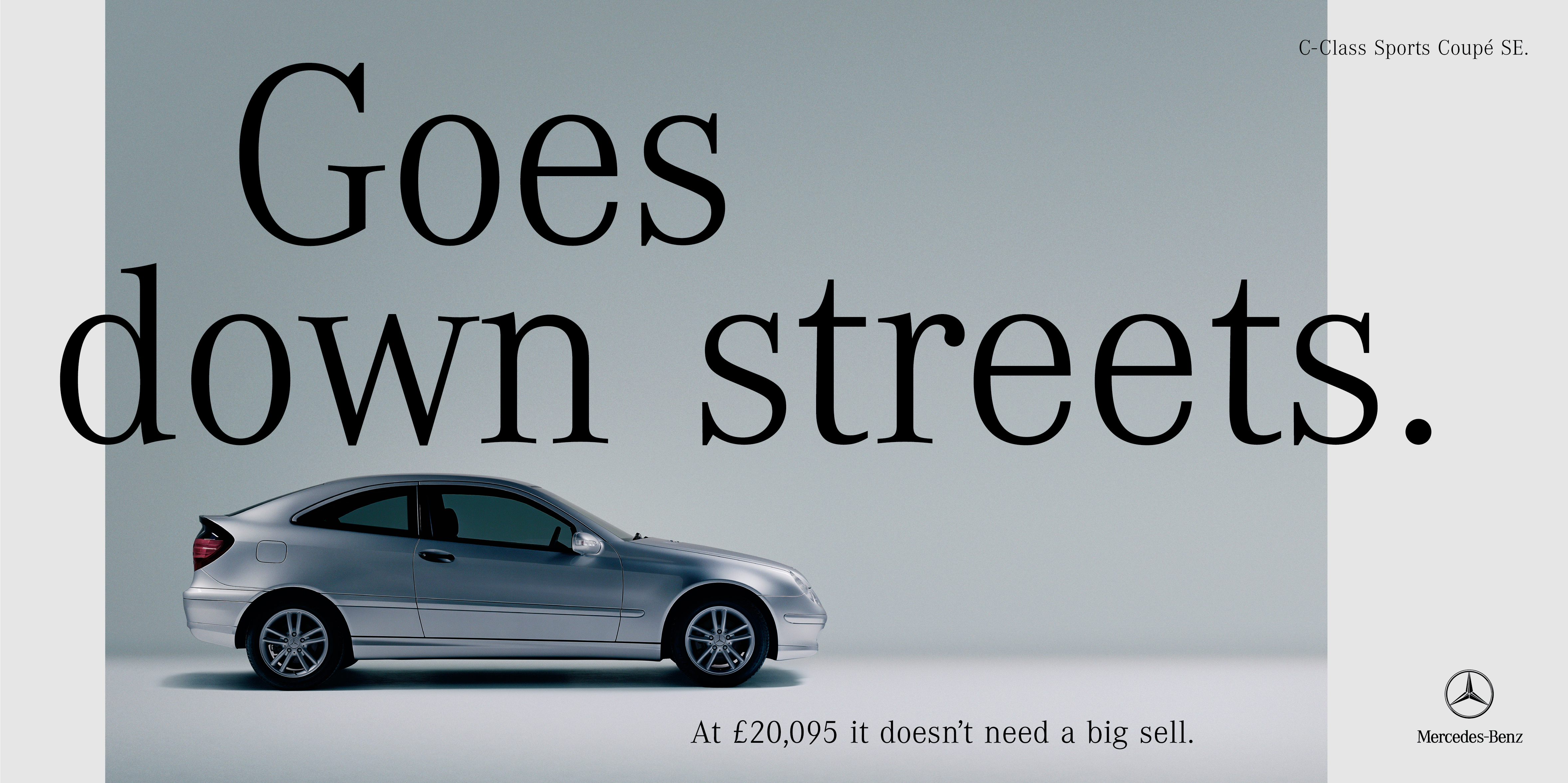 'Goes Down Streets' Mercedes-Benz, C-Class Coupe, CDD, 48