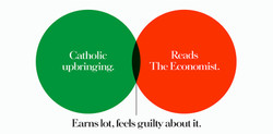 'Catholic' The Economist, Dave Dye, Venn, 48 sheet, AMV-BBDO