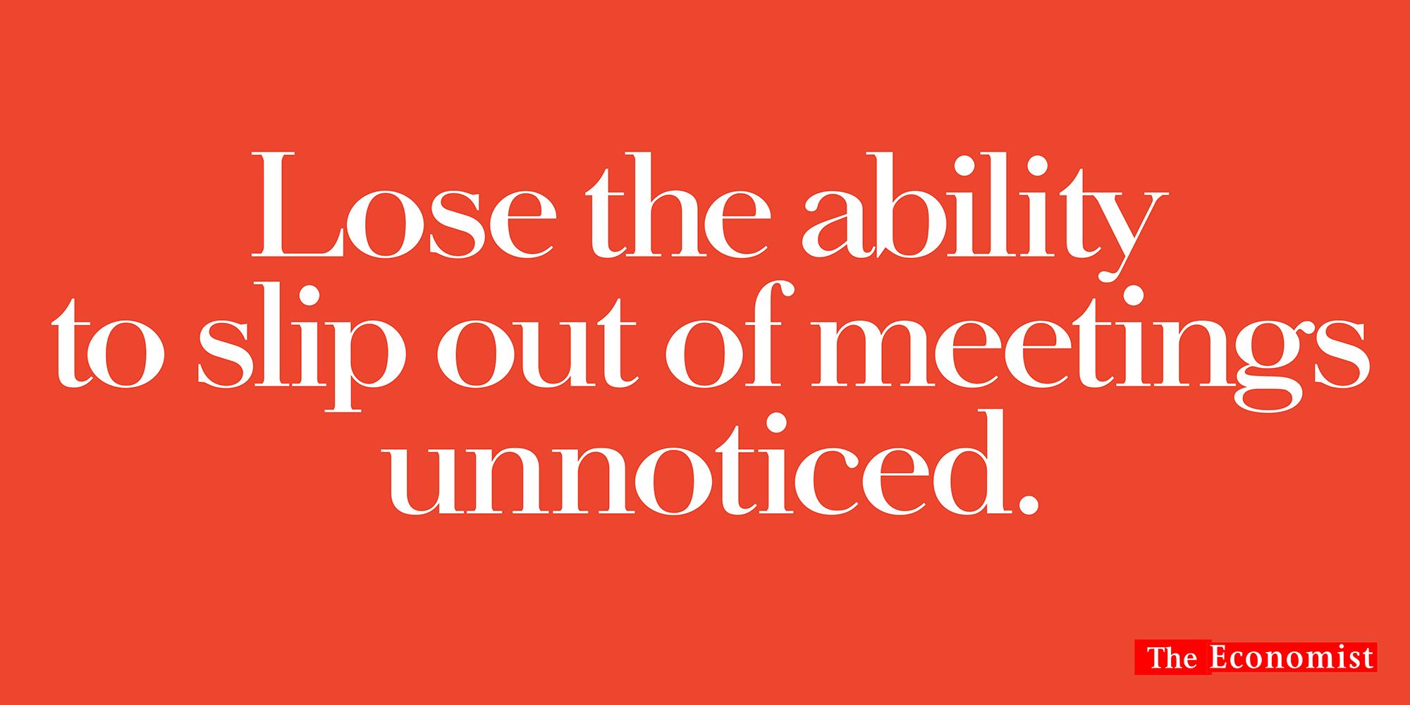 'Lose The Ability' The Economist, Dave Dye, AMV_BBDO