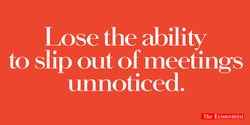 'Lose The Ability' The Economist, Dave Dye, AMV_BBDO
