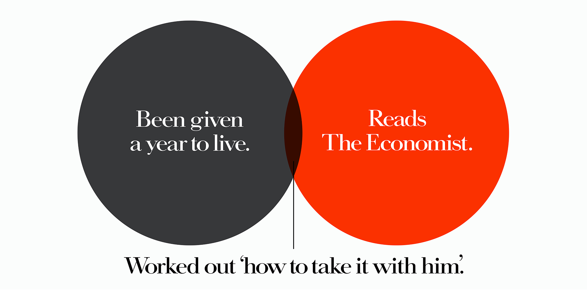 'Been Given A' The Economist, Dave Dye, Venn, 48 sheet, AMV-BBDO