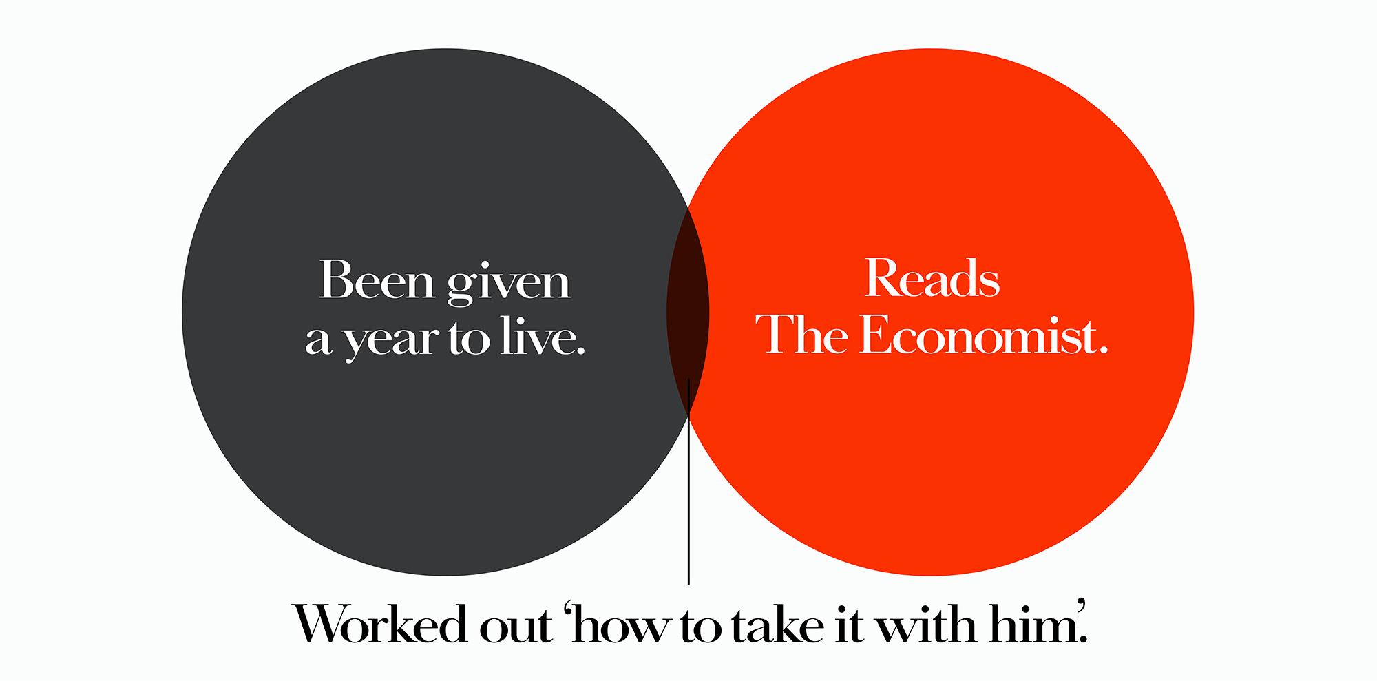 'Been Given A' The Economist, Dave Dye, Venn, 48 sheet, AMV-BBDO