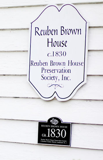Reuben Brown House historic plaque