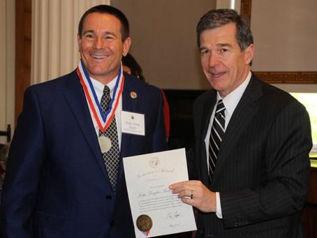 Sasser recognized by Gov. Cooper for volunteer efforts after Matthew