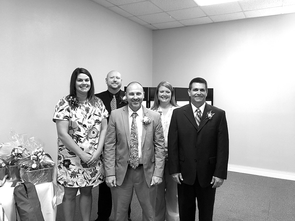 Whiteville City Schools teachers of the year for 2017-2018 are Katie Worthington, Bruce Ketcham, Heath Conner, Katherine Hyatt and Jami Hinson.