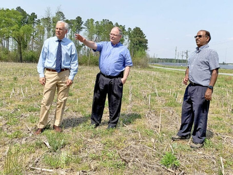 Soil additives company to plant roots in county; sale in industrial park finalized last week
