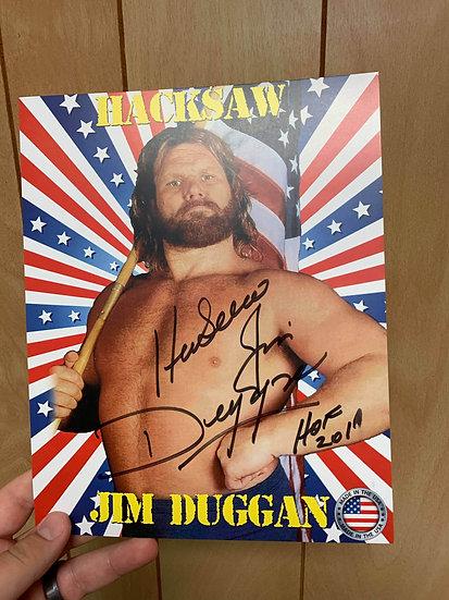 Hacksaw Jim Duggan Autographed 8x10