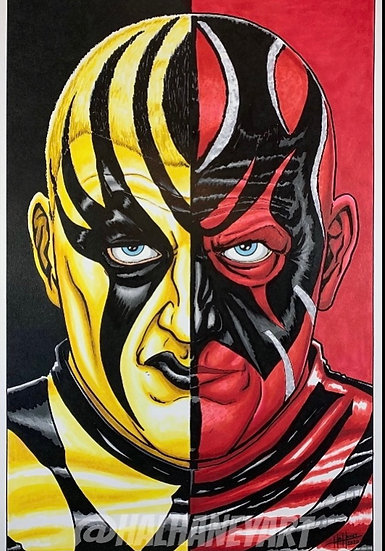 Dustin/Goldust transformation Haney Print autographed with or without m&g