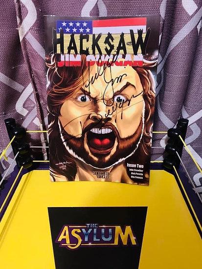 Hacksaw Jim Duggan autographed comic (issue 2)