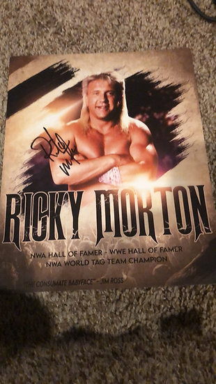 Ricky Morton autographed 8x10