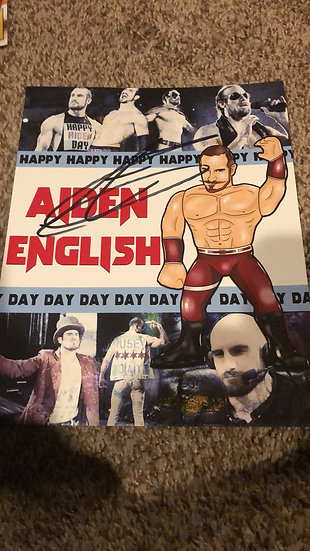Aiden English autographed 8x10