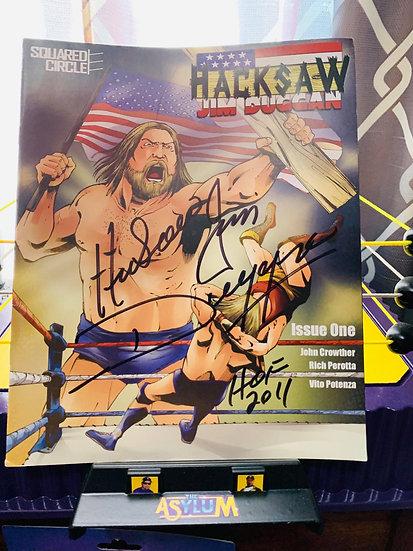 Hacksaw Jim Duggan autographed comic (issue 1)