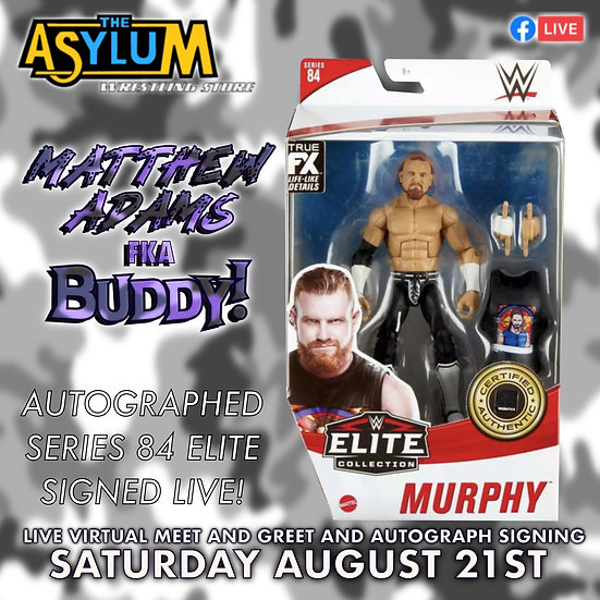 Matthew Adams WWE Elite 84 Buddy Murphy signed with Meet and greet