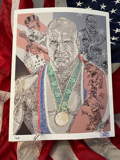 Maz Adams 11x14 Kurt Angle Print