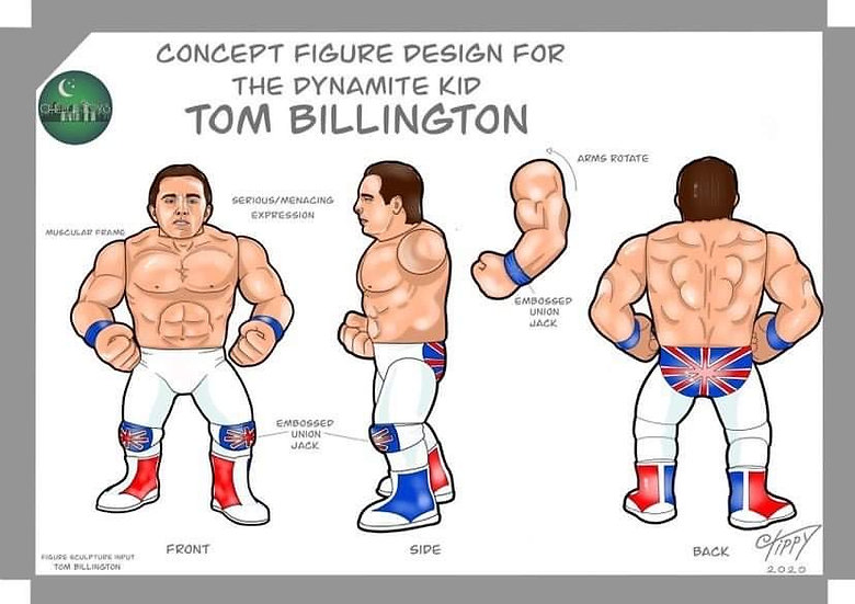 Chella Toys Dynamite Kid Wrestling MegastarsDeluxe Action Figure