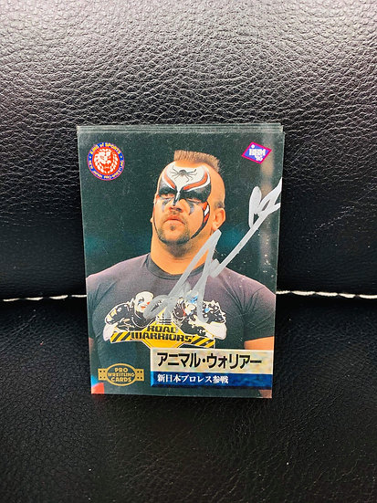 Animal autographed Japanese Trading Card