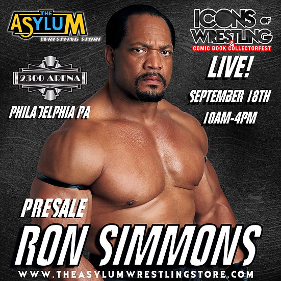 Ron Simmons live Icons of Wrestling September 18th!