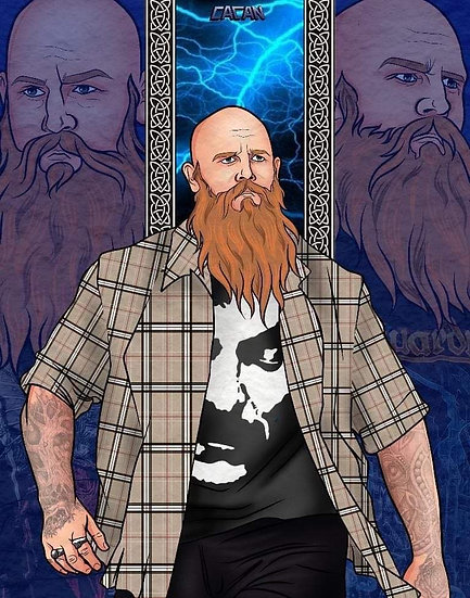Erick Redbeard autographed artwork with or without meet and greet
