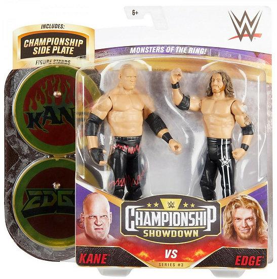 Championship Showdown Kane vs Edge 2 Pack. Autographed by Kane