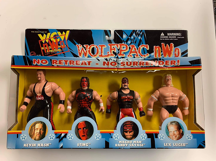 Osft wcw wolfpac 4 pack autographed by Lex Luger with meet and greet