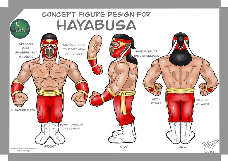 Chella Toys Hayabusa Wrestling Megastars Action Figure