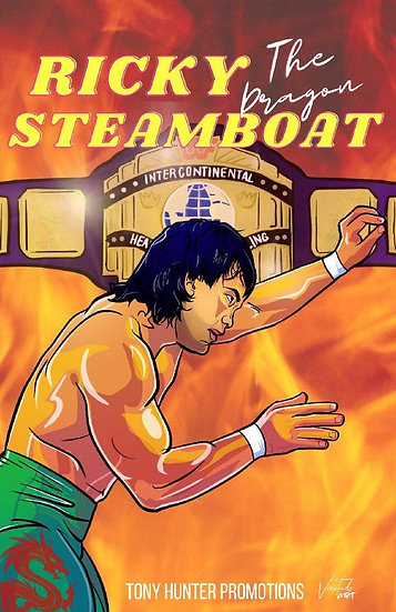 Autographed 11x17Ricky Steamboat Artwork