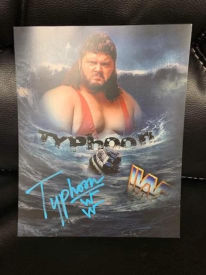 TyphoonFred Ottman autographed 8x10