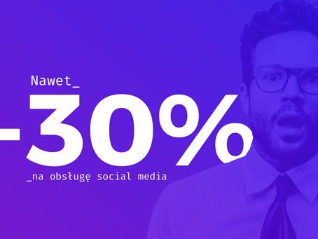 Noworoczna promocja! Obsługa social mediów nawet -30%! Tylko do 10.01.21!
