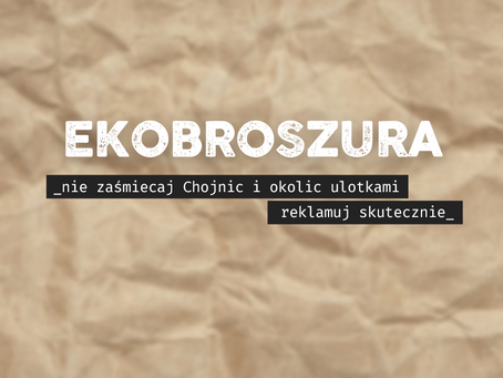 Startujemy z usługą EKOBROSZURA