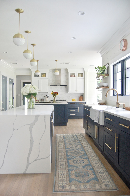 White Navy Kitchen