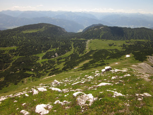 ... mit Blick auf die wilde Bergwelt.