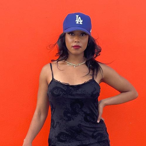 blue la dogers hat