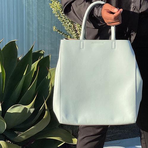 super cute light blue handbag