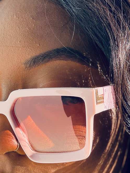pink and gold sunglasses