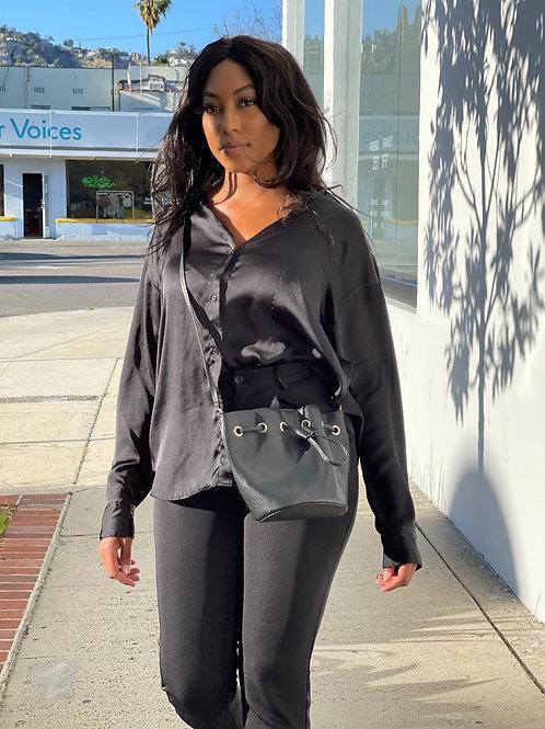 black stylish purse