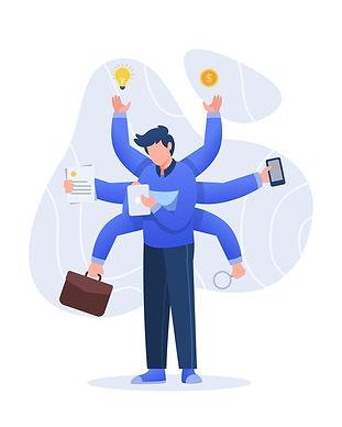 multitasking-concept-illustration-charac