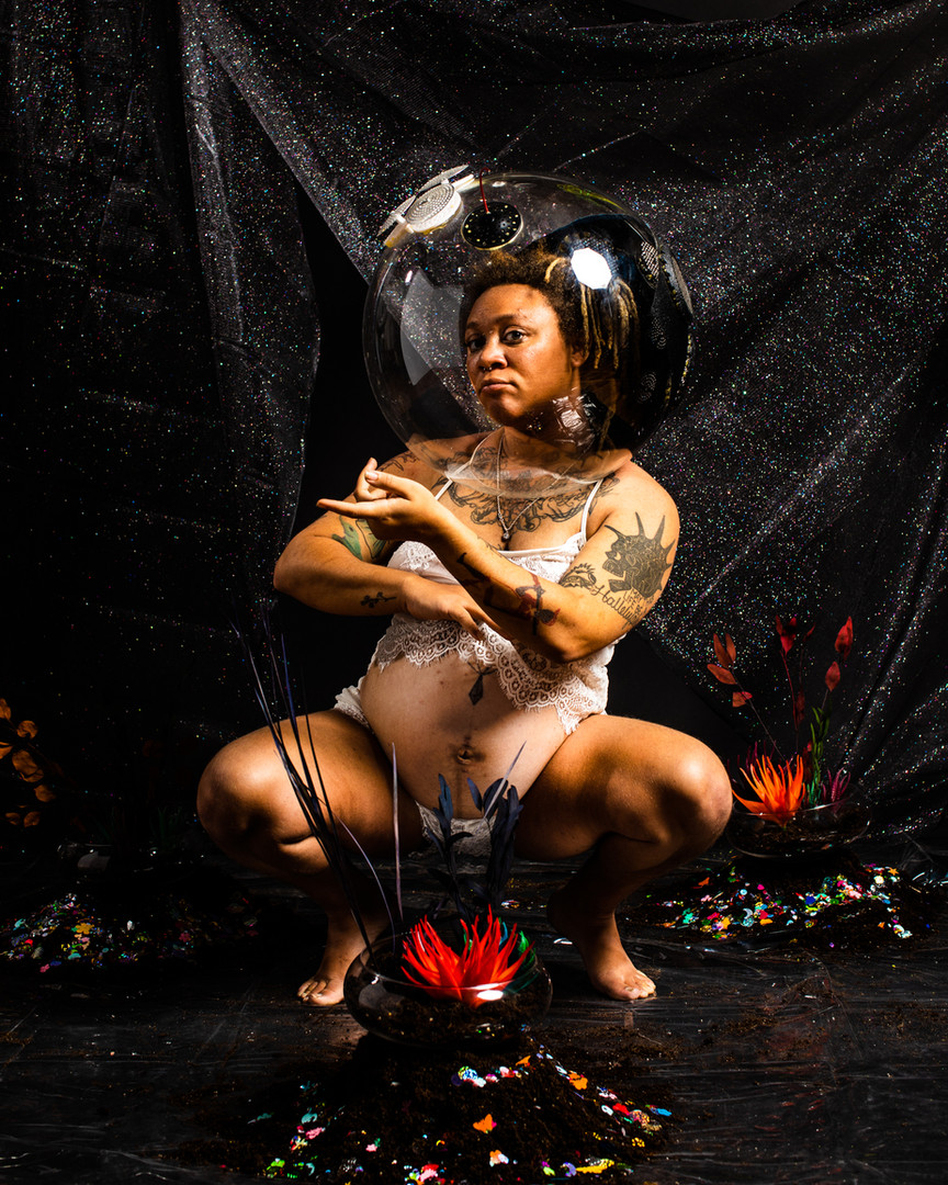 Afrofuturism Maternity Shoot