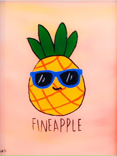 1 Day Camp: July 8th. FINEAPPLE Painting!